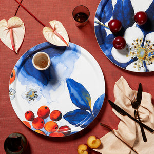 BLOMBÄR, BLUE - FABRIC TRAY ROUND