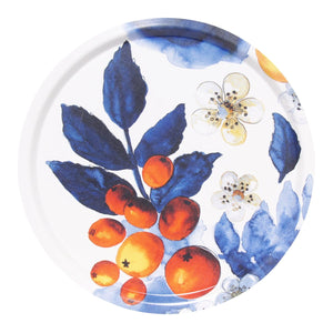 Blombär Round Fabric Tray - Blue
