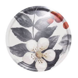 Blombär Round Fabric Tray - Grey