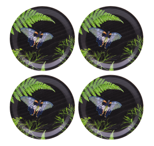 COASTERS, DILL (BLACK) 4PCS