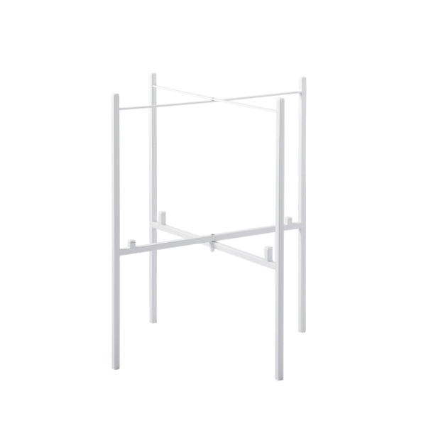 TRAY TABLE STAND FOR 2 TRAYS, WHITE