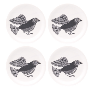 Coasters with dove pattern by Asta Barrington