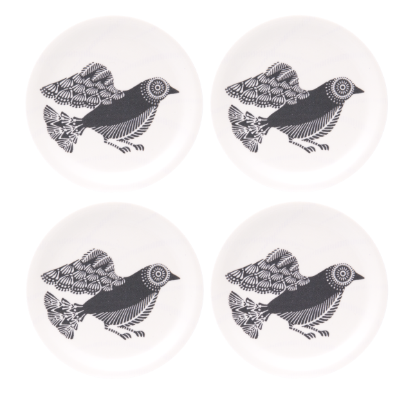 COASTERS, DOVES (WHITE) 4PCS