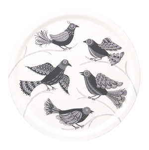 DOVES, WHITE- TRAY ROUND