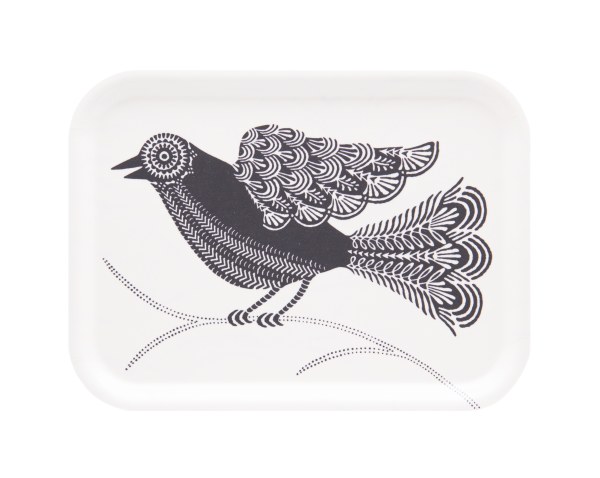 Birchwood tray with dove pattern by Asta Barrington