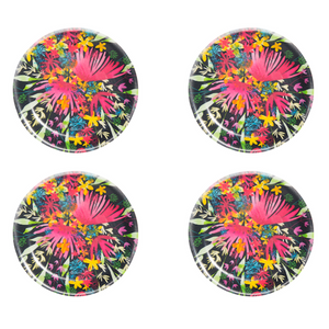 COASTERS, FLOWERS 4PCS