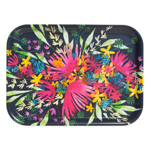 TRAY, FLOWERS, RECTANGULAR