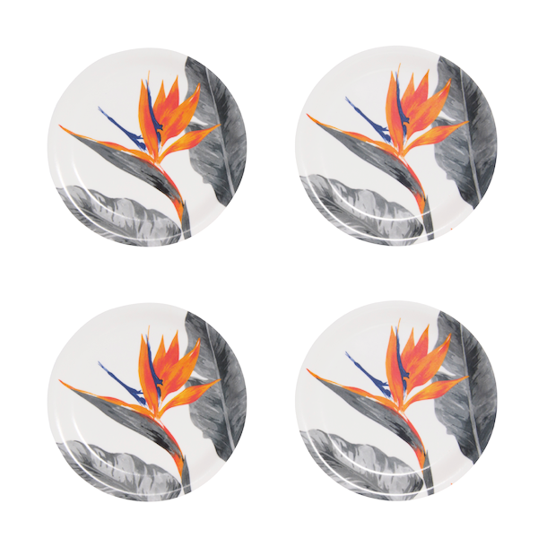 Strelitzia bird of paradise coasters