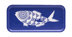 SHOAL OF FISH, BLUE - TRAY 32x15CM