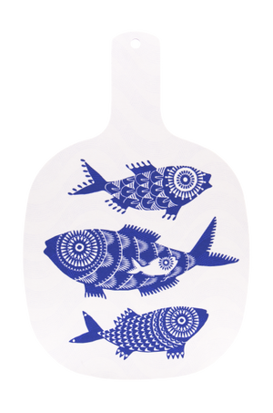 Cutting board with fish pattern