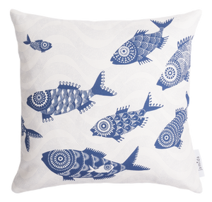 Cushion cover with fish pattern