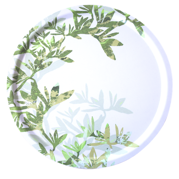 Morgonblomma Round Fabric Tray