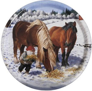 TRAY, CHRISTMAS - VARIOUS, ROUND
