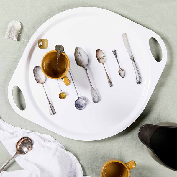 CUTLERY, WHITE - TRAY HANDLE
