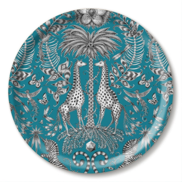 KRUGER, TURQUOISE - TRAY ROUND