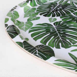 Monstera birchwood tray by Living Pattern