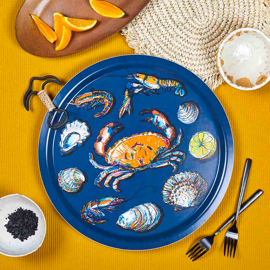 TRAY, SEAFOOD (NAVY) ROUND