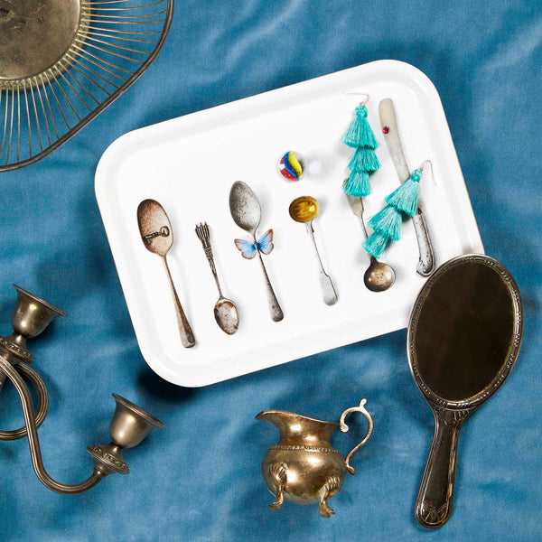 CUTLERY, WHITE - TRAY RECT.