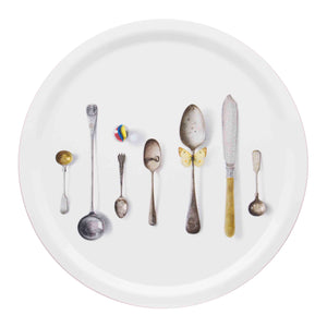 CUTLERY, WHITE - TRAY ROUND