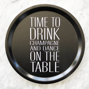 CHEERS! CHAMPAGNE - TRAY ROUND