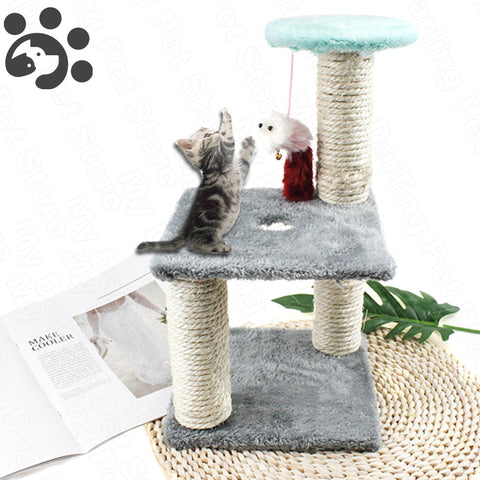 Darling Cat Tree With Toy Mouse