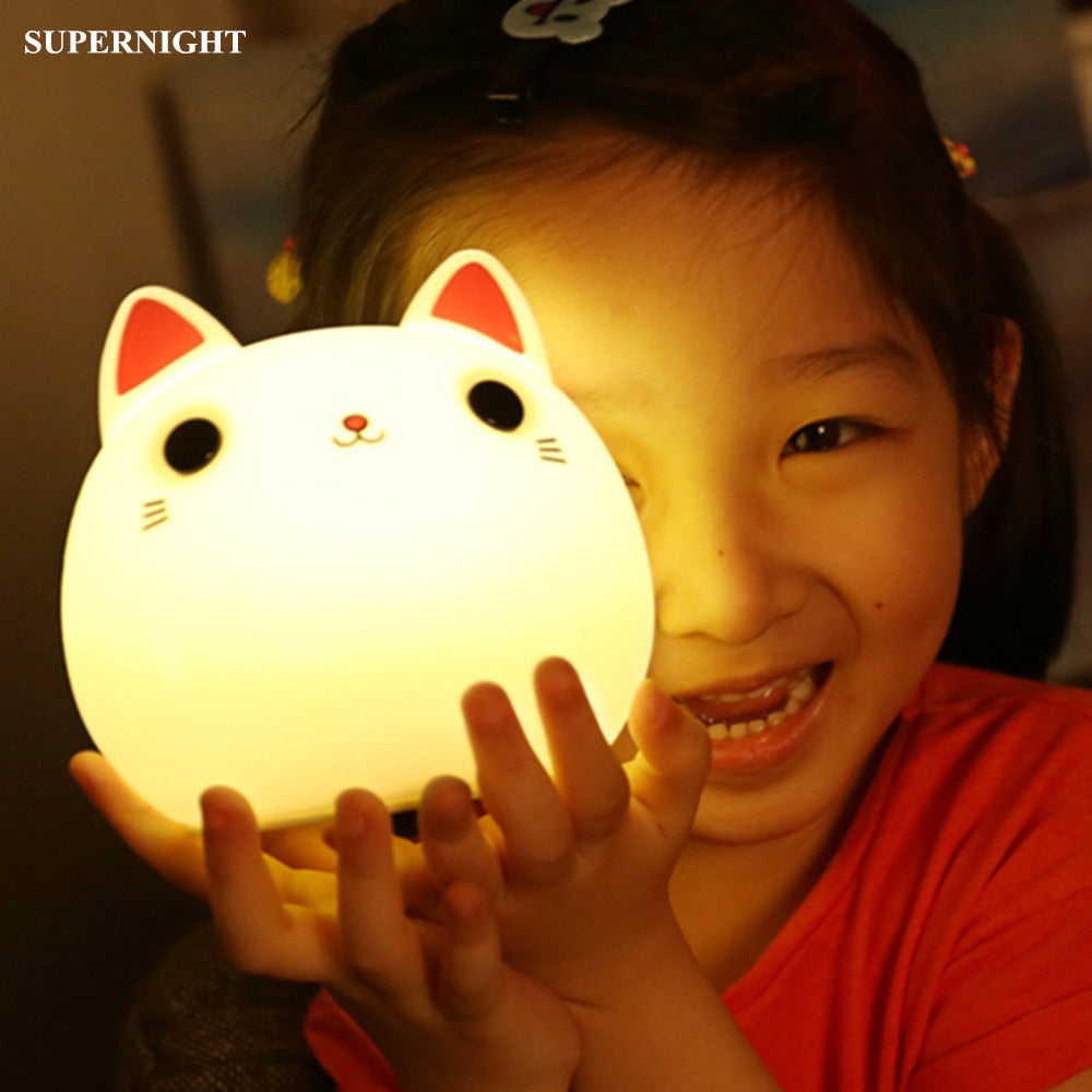 Rechargeable Touch Sensor LED Cat Night Light
