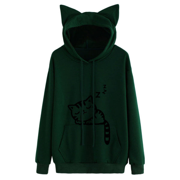 Women Cat Hoodies