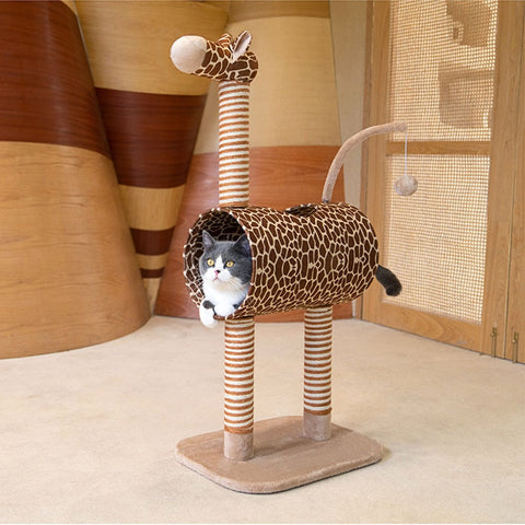 DIY Giraffe Cat Scratching Post