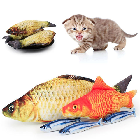 Funny Lifelike Fish Shaped Cat Toy