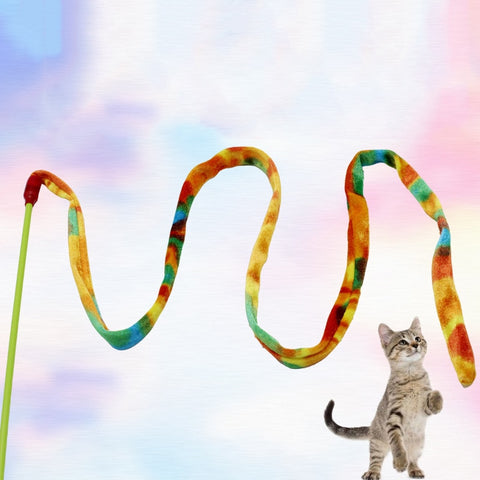 Colorful Cat Wand Teaser Toy