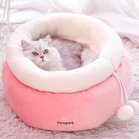 Round Soft Warm Nest Cat Bed