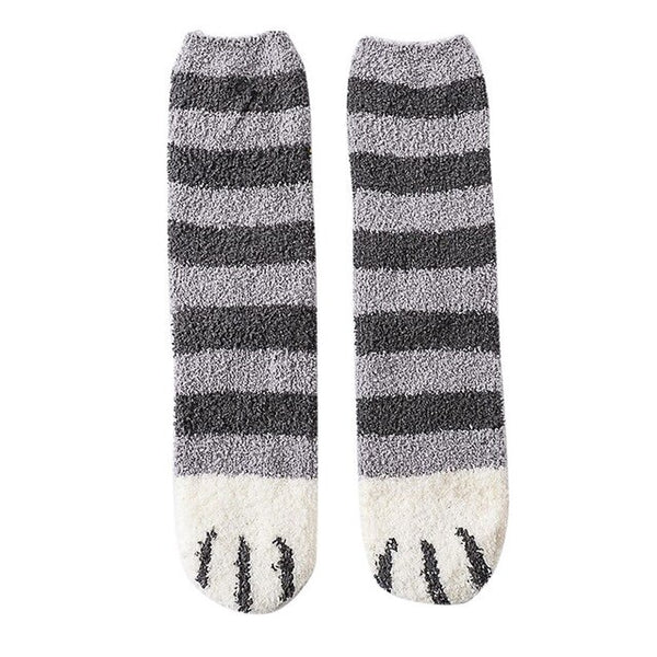 1 Pair Soft Fleece Cat Ankle Socks
