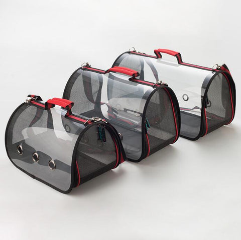 Transparent Cat Space Cabin Travel Carrier.