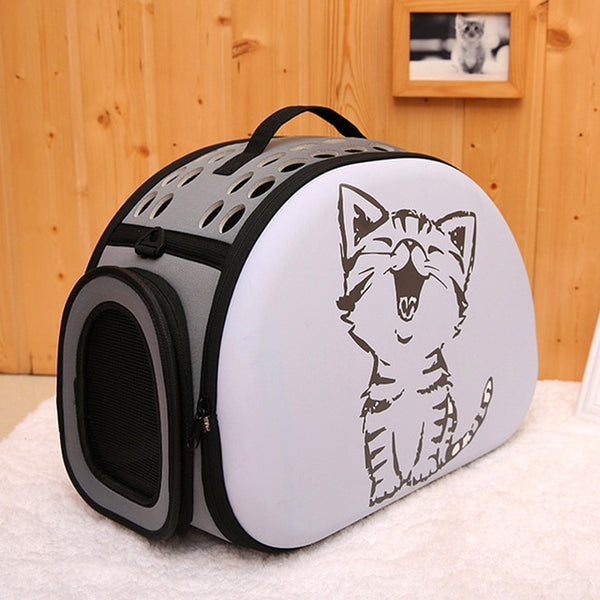 Small Foldable 3D Pattern Cat Carrier