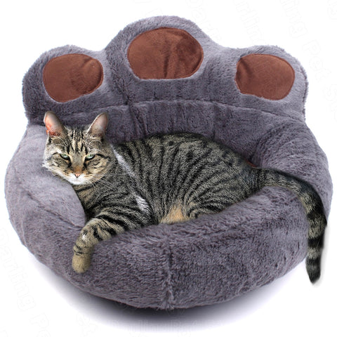 Pet Cat Bed House for Cats Basket Mat Winter Warm Plush Beds Lounger for Cat Panier Pet Bed Products for Cats Cama para Gato
