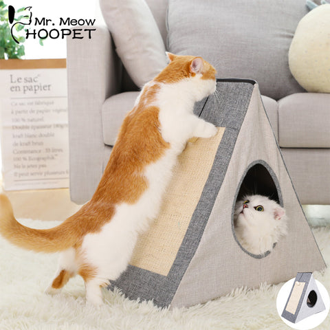 Hoopet Pet Cat Foldable Bed Cat House Warm Cave Kennel for Dog Puppy Home Sleeping Kennel Teddy Comfortable House Kat Bed