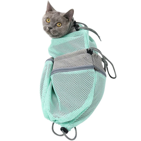 Scratch and Bite Tough Cat Bathing Bag