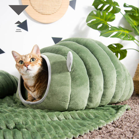 3 Styles Collapsible Cat Bed Pet Winter Plush Cat's House for Indoor Dogs Kennel Mat Small Dog Warm Cave Sleeping Bag Products