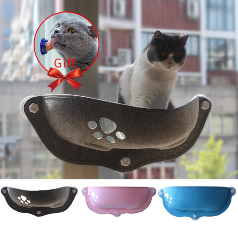 Hot Sale Pet Hammock Beds Bearing 20kg Cat Window Lounger Suction Hammock Pet Cat Window shelf Comfortable Cat Ferret Pet Bed