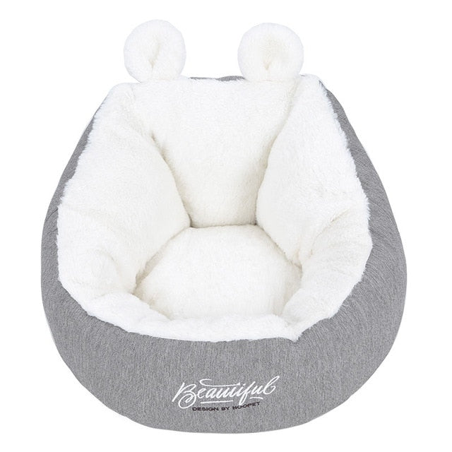 Hoopet Cat Warm Basket Bed Cat House Kennel for Dog Puppy Home Sleeping Kennel Teddy Comfortable House