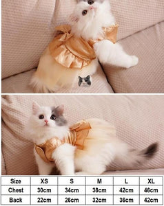 Bling Bling Cat Party Dress for Small Cat
