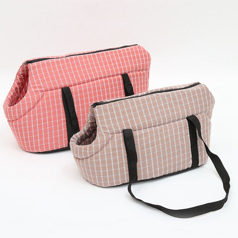 Cat Plaid Shoulder Carriers