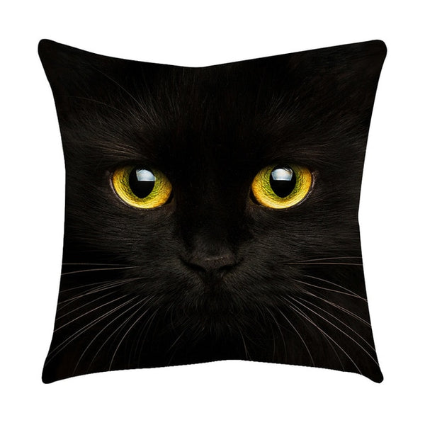 45X45cm Black Cat Eyes Pillow Case