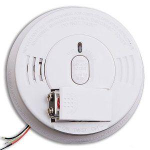 120V/9V Wire-In with Ionization Sensor Smoke Alarm, Battery Included - Kidde