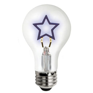 Star Shape Filament LED Specialty Light Bulb - E26 Medium Base - 1.5W - TCP