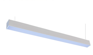 4' Square Cornered LED Suspended or Ceiling Mount Commercial LED Integrated Light Strip - 3500K - 40W - Westgate Mfg.