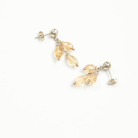 Citrine Silver Grapes