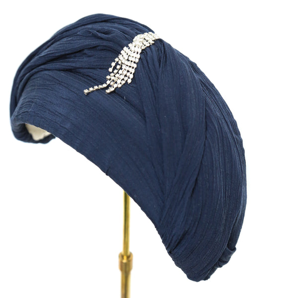 Blue Turban Moon ~ SOLD