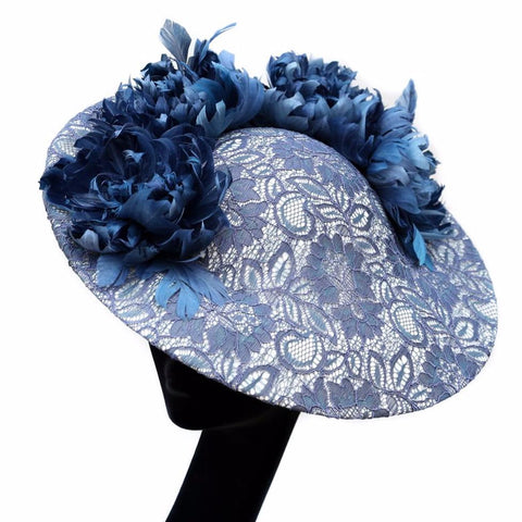 Lace Blue Rose ~ SOLD