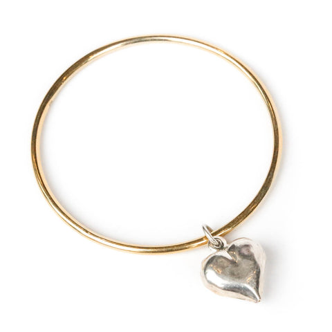Giant Beaten Heart Bangle